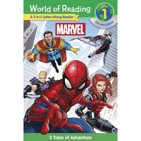 World of Reading Marvel 3-in-1 Listen-Along Reader (World of Reading Level 1) : 3 Tales of Adventure with