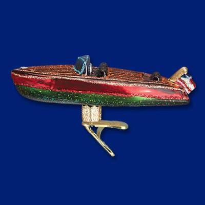 Blown Glass Hanging - Old World Xmas Christmas Craft Boat