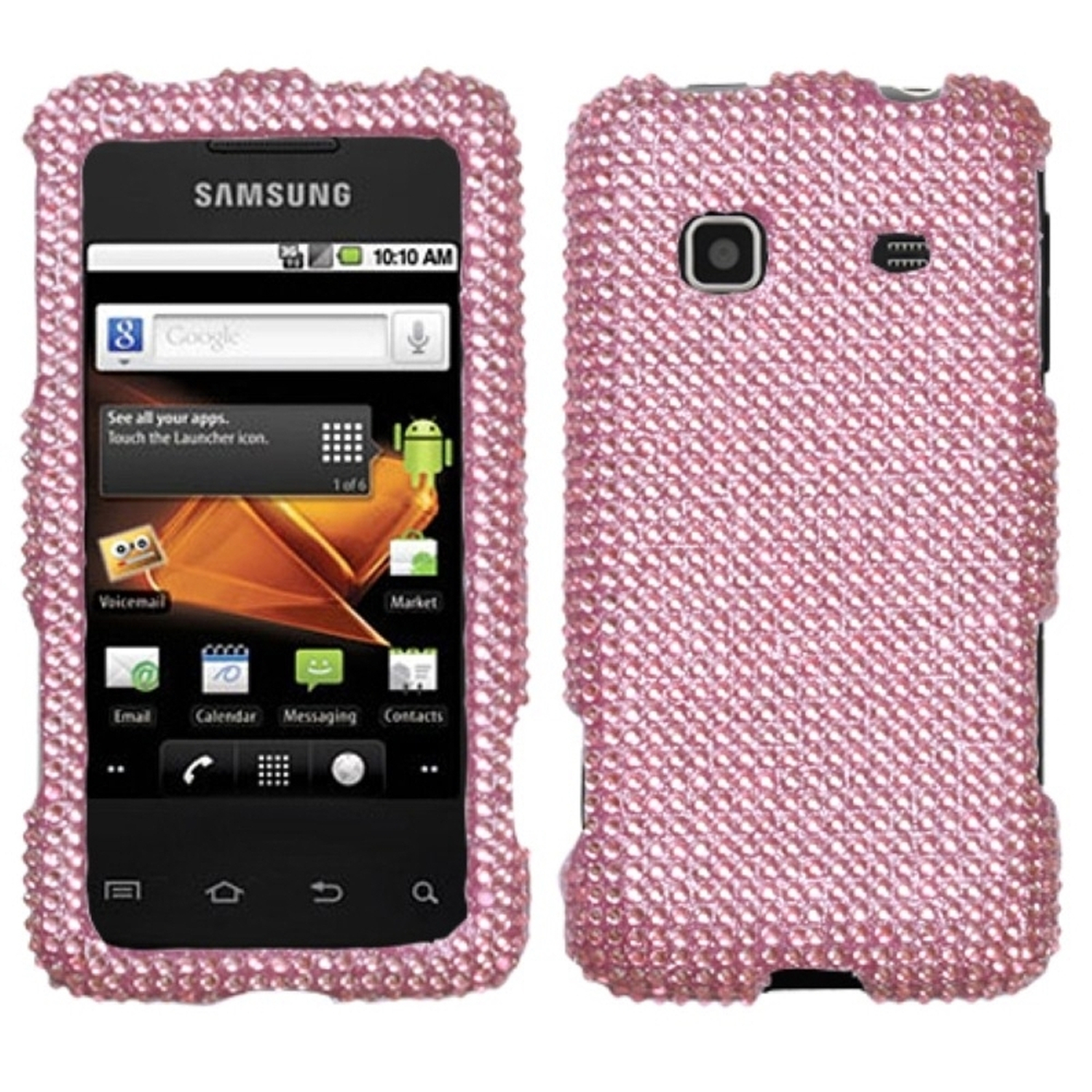 Insten Pink Diamante Case (Diamante 2.0) for SAMSUNG: M820 (Galaxy Prevail)