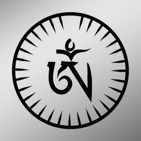 Om Symbol In Tibetan Script Sun Dial Decal Sticker 55 Inches By