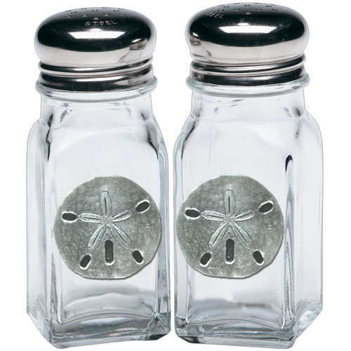 Sand Dollar Salt & Pepper Shakers