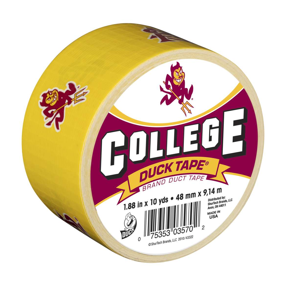 College Duck Tape Brand Duct Tape - Arizona State , 1.88 in. x 10 yd.