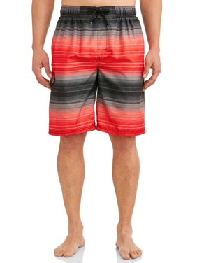 Kanu Surf Men's Haywire Print Long Trunk Swimsuit
