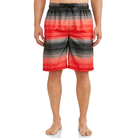 Kanu Surf Men's Haywire Print Long Trunk Swimsuit