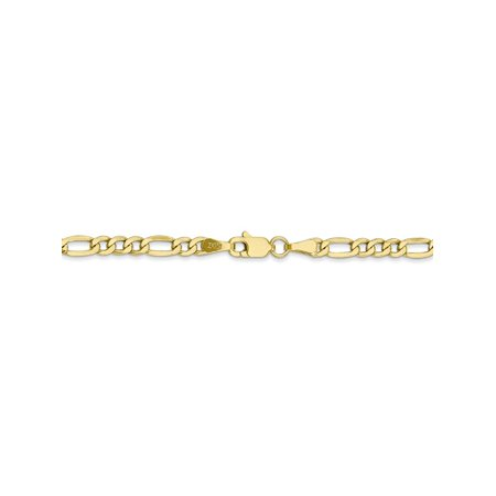 3.5 mm 10k Yellow Gold Lightweight Figaro Chain Necklace - 18 Inch