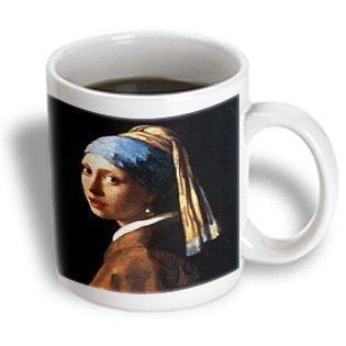 Jan Vermeer Girl (3dRose Girl With a Pearl Earring by Jan Vermeer, Ceramic Mug,)