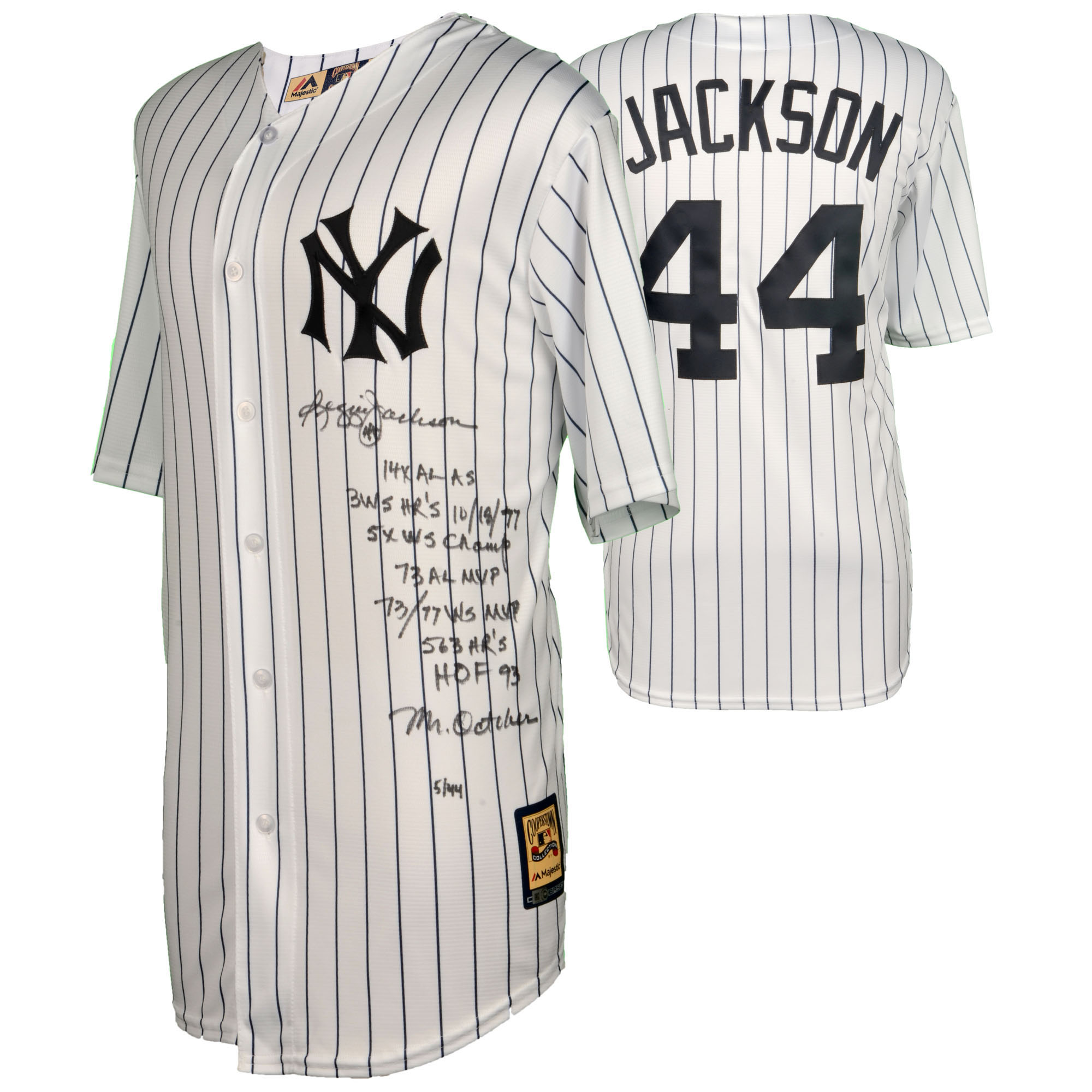 Reggie Jackson New York Yankees Fanatics Authentic Autographed Mitchell and Ness Jersey with Multiple Inscriptions - Limited Edition of 45 - No Size