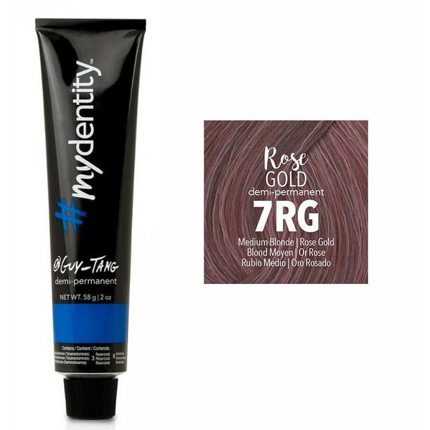 Guy Tang Mydentity Demi Permanent Hair Color 7rg Medium Blonde Rose Gold Walmart Com Walmart Com