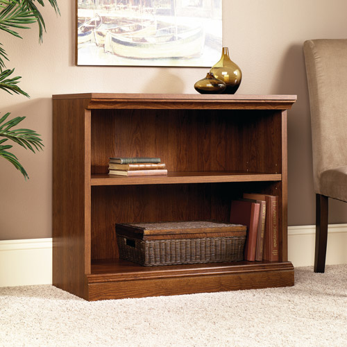 sauder camden country 2shelf bookcase planked cherry