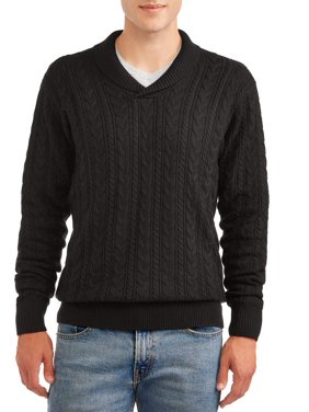 George Men's and Big Men's Cable Knit Sweater, up to Size 3XL