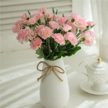 5 Branches 10 Heads Artificial Carnation Silk Flowers Bouquets Fake Floral Plants Decoration ()