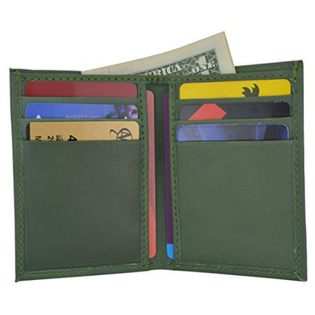 Bill Holder Wallet (Men's Mini Slim Thin Bifold Genuine Leather ID Card Bill Holder Wallet)
