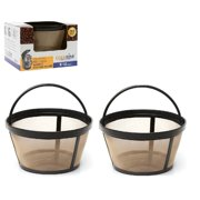 GoldTone Brand Reusable 8-12 Cup Basket Coffee Filter fits Mr. Coffee Makers and Brewers. Replaces your Mr. Coffee Reusable Basket Filter & Mr. Coffee Basket Filter - BPA Free - [2 PACK]