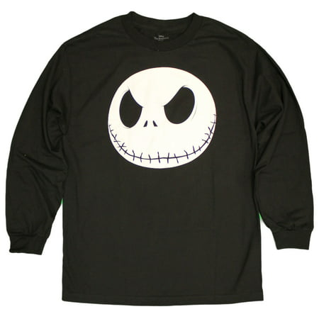 Men's Nightmare Before Christmas Fat Head Jack Long Sleeve Glow in Dark - Before You Exit Shirts