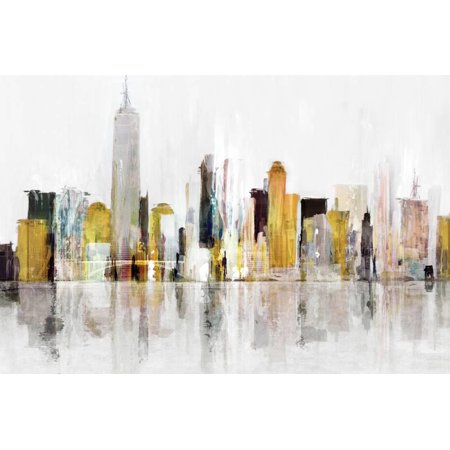 Towering Over Buildings III Abstract Skyline Cityscape Print Wall Art By Isabelle Z