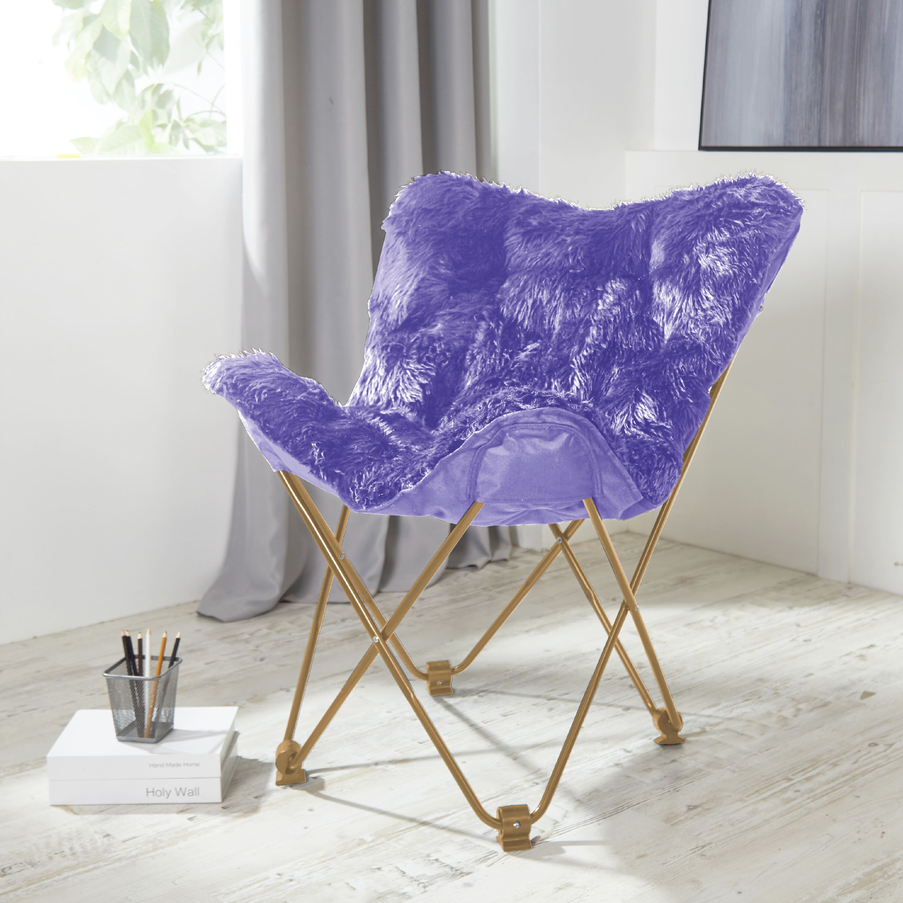 Urban Shop Mongolian Butterfly Chair, Available in Multiple Colors