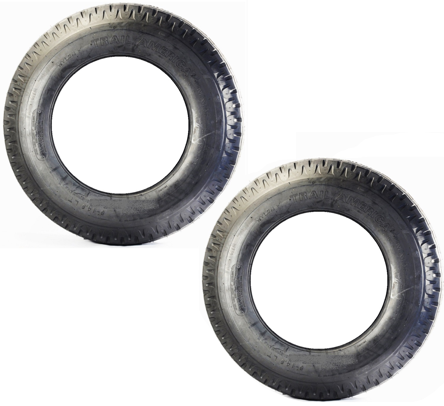Two Equipment Trailer Tires MH 8X14.5 8-14.5 8 X 14.5 Low Boy Range G Bias Ply