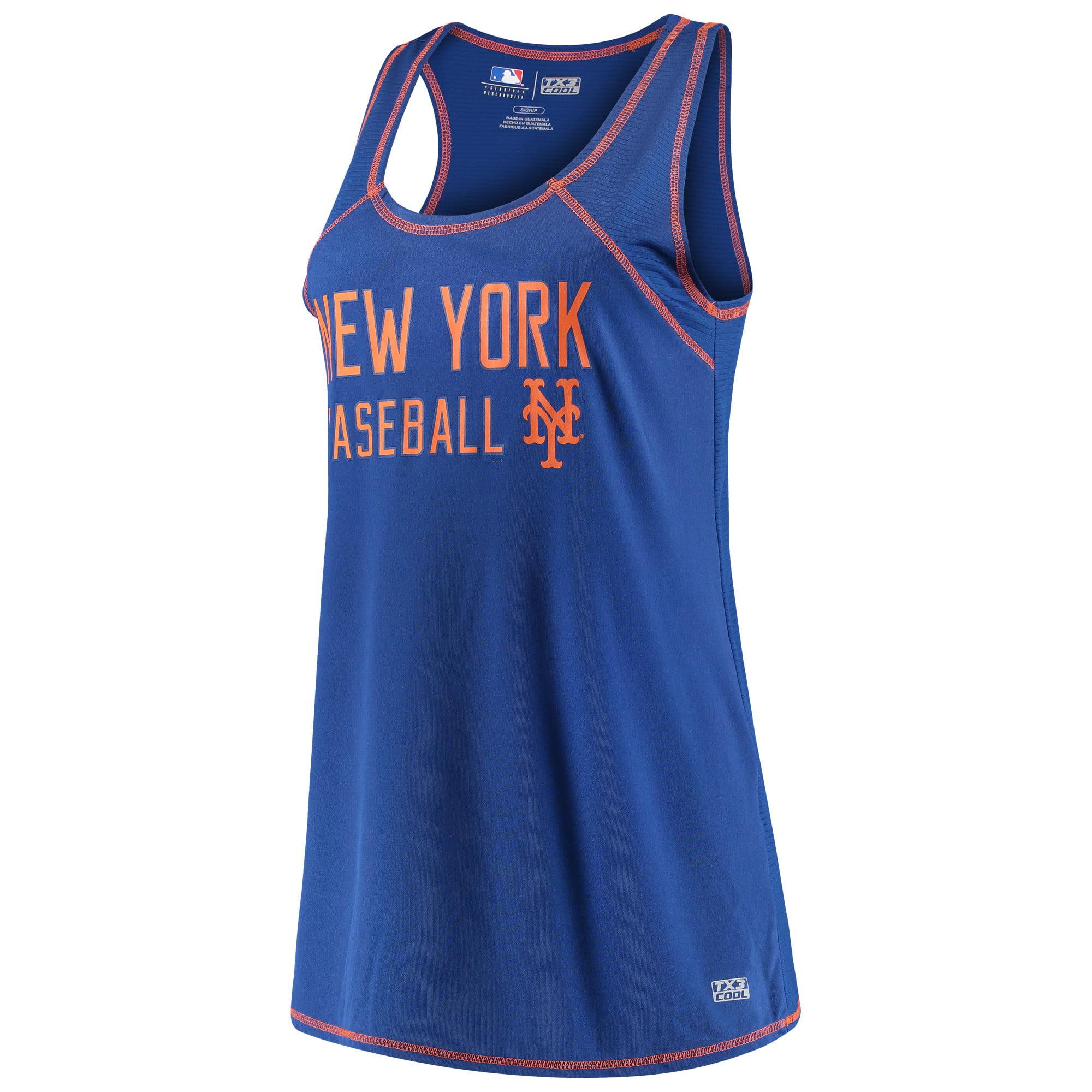 Women's Majestic Royal New York Mets TX3 Cool Fabric Scoop Neck Tank Top