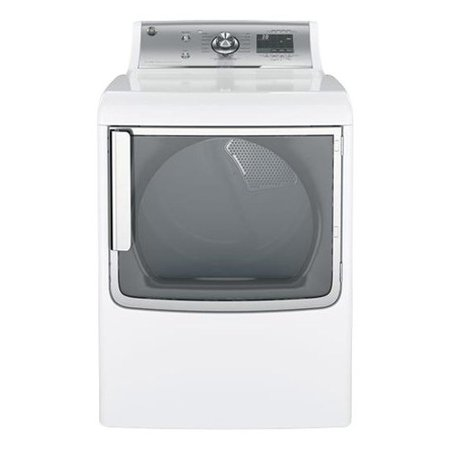 GTD86GSSJWS 28 Energy Star Rated Gas Dryer with 7.8 cu. ft. Capacity Stainless Steel Drum WiFi Connect Steam Option 13 Dry Cycles 5 Temperature Settings and Drum Light in White
