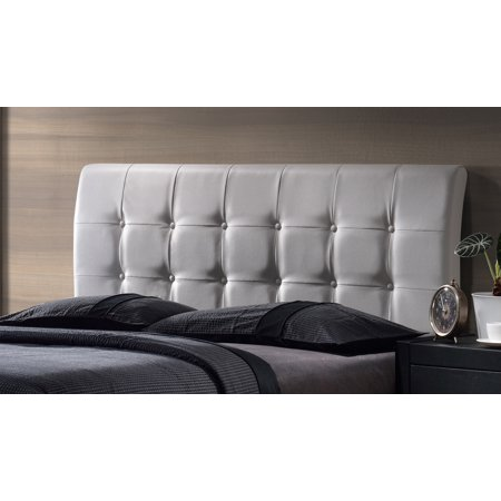 Hillsdale Furniture Lusso King Headboard, White Faux Leather