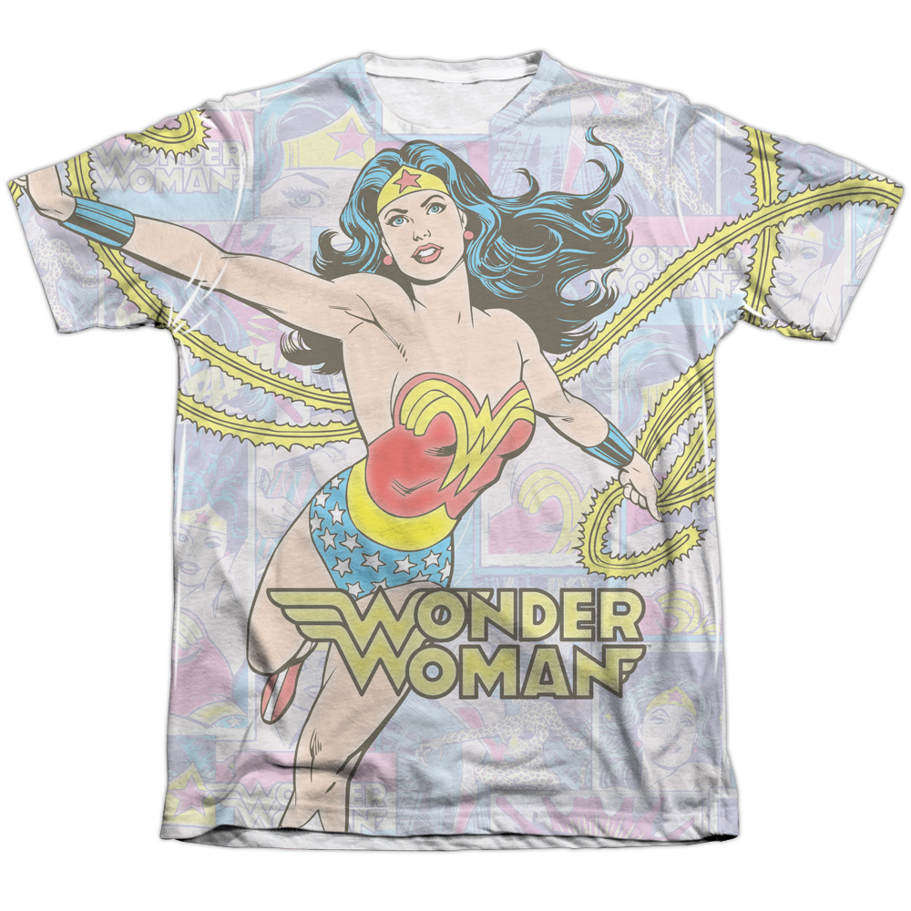DC Comics Wonder Collage (Front Back Print) Mens Sublimation Shirt