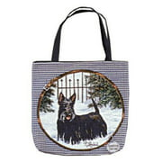 "Scottish Terrier Decorative Shopping Tote Bag 17"" x 17"""