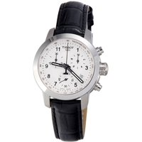 Tissot Silver Dial Leather Strap Ladies Watch