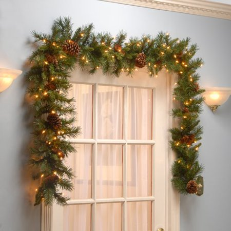 National Tree Co. Pre-Lit Pine Cone Garland