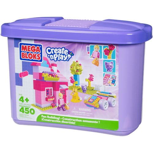 Mega Bloks Create 'n Play Fun Building Set for Girls