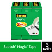 Scotch Magic Tape Refill 3 Pack, 3/4in. x 1000in per Roll