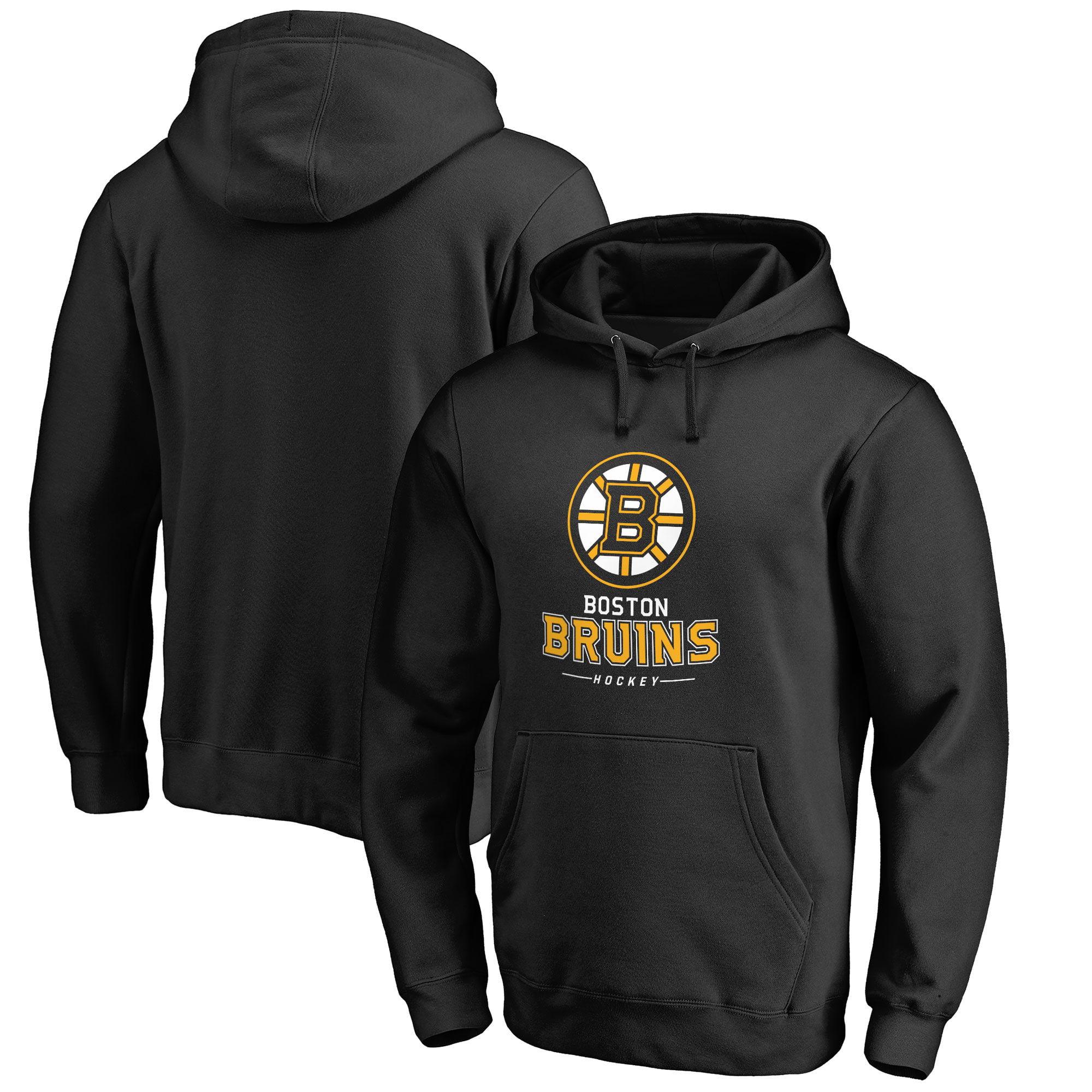 Boston Bruins Team Lockup Pullover Hoodie - Black