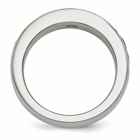 Edward Mirell Titanium Cable&Black Spinel w/Sterling Silver Bezel 7mm Band Size 13 - image 2 de 4