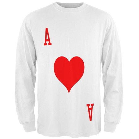 Halloween Ace of Hearts Card Soldier Costume All Over Mens Long Sleeve T - Pinterest Halloween Homemade Cards