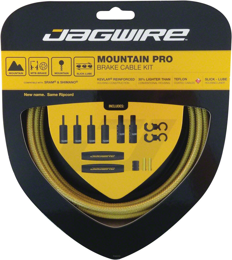 Jagwire Mountain Pro Brake Cable Kit, Gold Medal