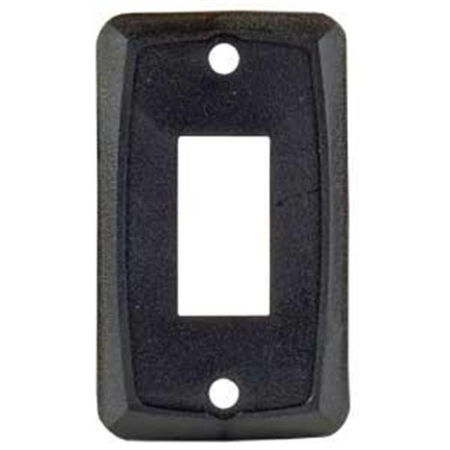 12855 Single Switch Plate Black - image 1 of 1
