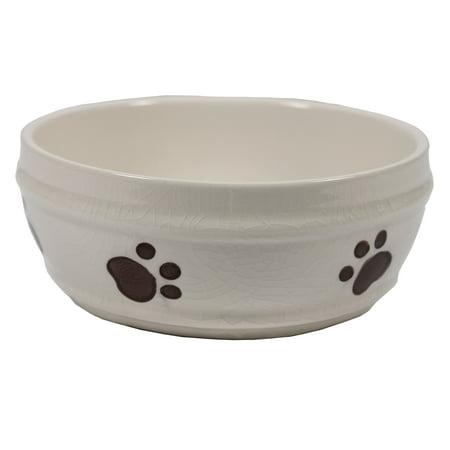 Ethical Stoneware Dish-Spot Crackle Dish- Ivory 7 Inch