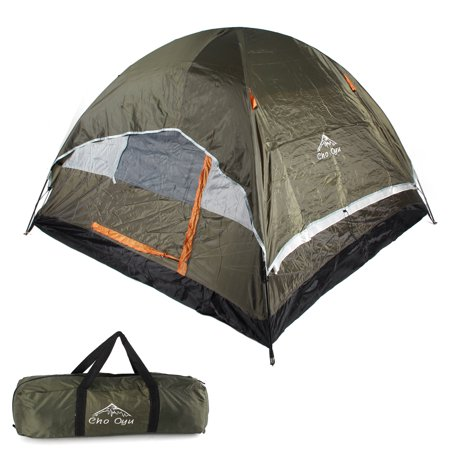 3/4 Person Camping Tent Family Outdoor Sleeping Dome Water Resistant with Carry Bag