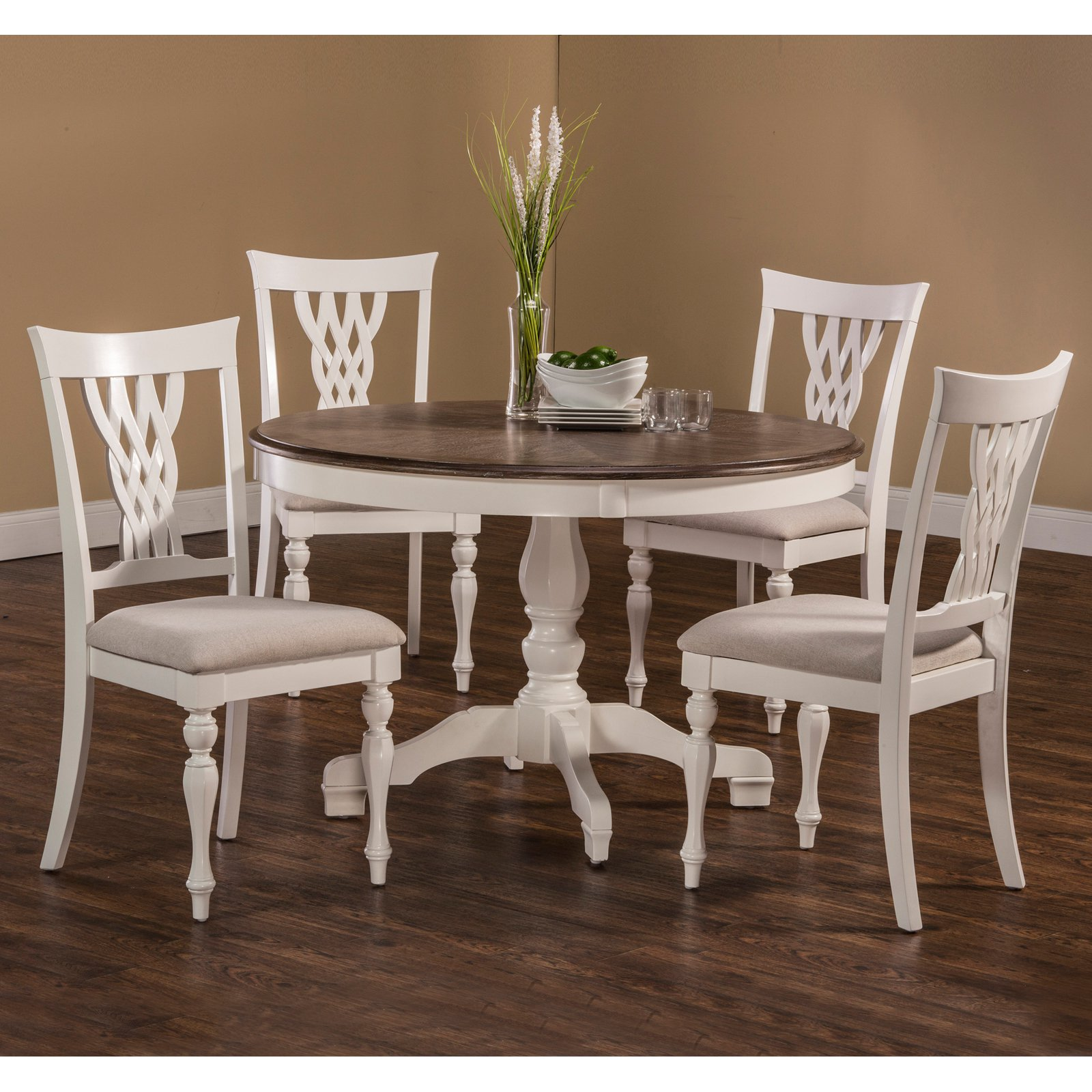 Hillsdale Furniture Bayberry 5-Piece Round Dining Room Set, White by Hillsdale