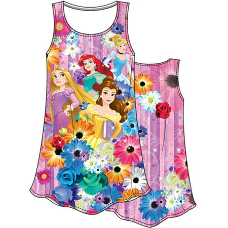Disney Youth Princess Garden Cinderella, Ariel, Belle & Rapunzel Medium Sublimated Dress (Disney Bell Dress)