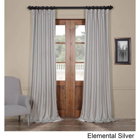 Exclusive Fabrics  Yarn Dyed Faux Dupioni Silk Curtain Panel