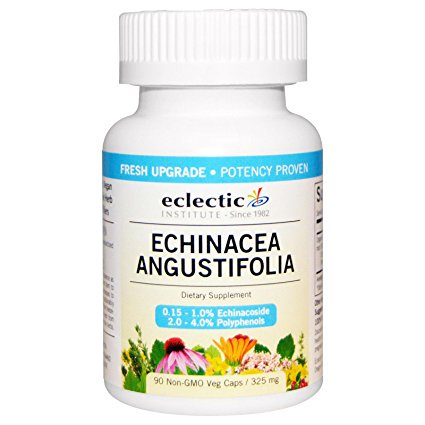 Eclectic Institute - Echinacea E.Angustifolia Root, 325 mg, 90 veggie caps