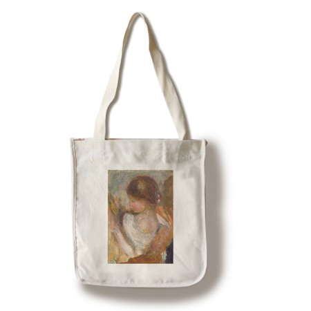 Young Girl Reading - Masterpiece Classic - Artist: Auguste Renoir c. 1888 (100% Cotton Tote Bag - Reusable)