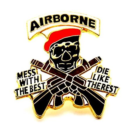 Wholesale Lot of 12 Airborne Mess With The Best Die Like Rest US Army Lapel Pin 009