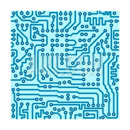 Electronic Digital Circuit Board Print Wall Art By pzAxe