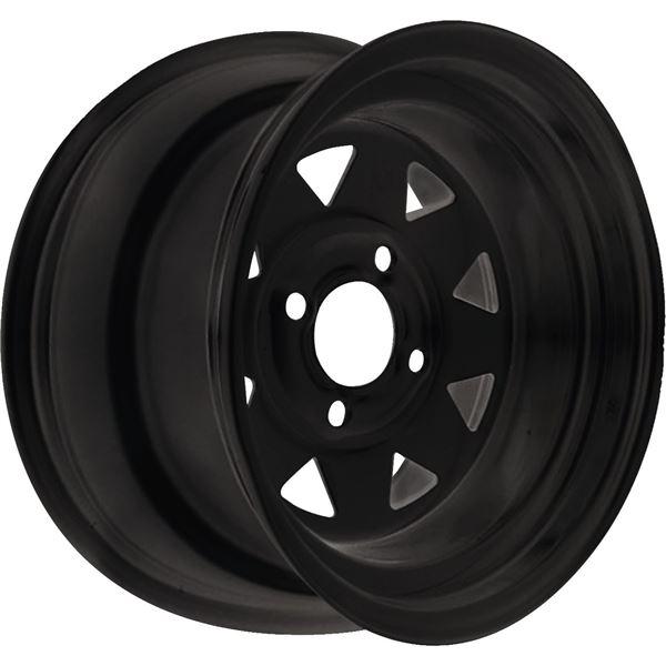 Black 12x7, 4/110, 4+3 Ocelot Sanji Steel Wheel - 847-3632