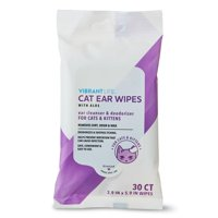 Vibrant Life Cat Ear Wipes with Aloe, 30 Count
