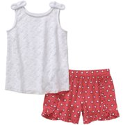 Healthtex Girls Lace Tank Short Set