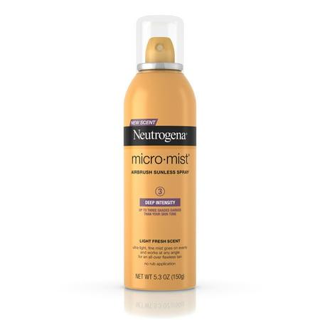 Neutrogena Micromist Airbrush Sunless Tanning Spray, Deep, 5.3