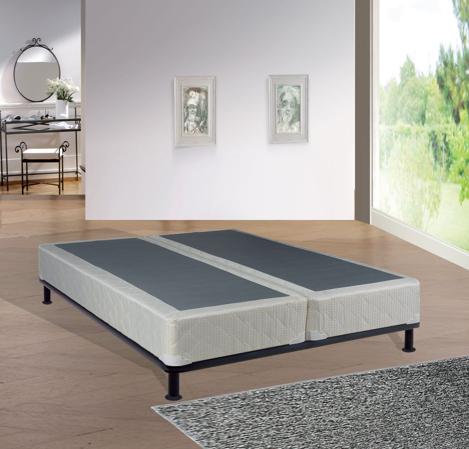 "Wayton 8"" Fully Assembled Split Box Spring, Multiple Sizes"