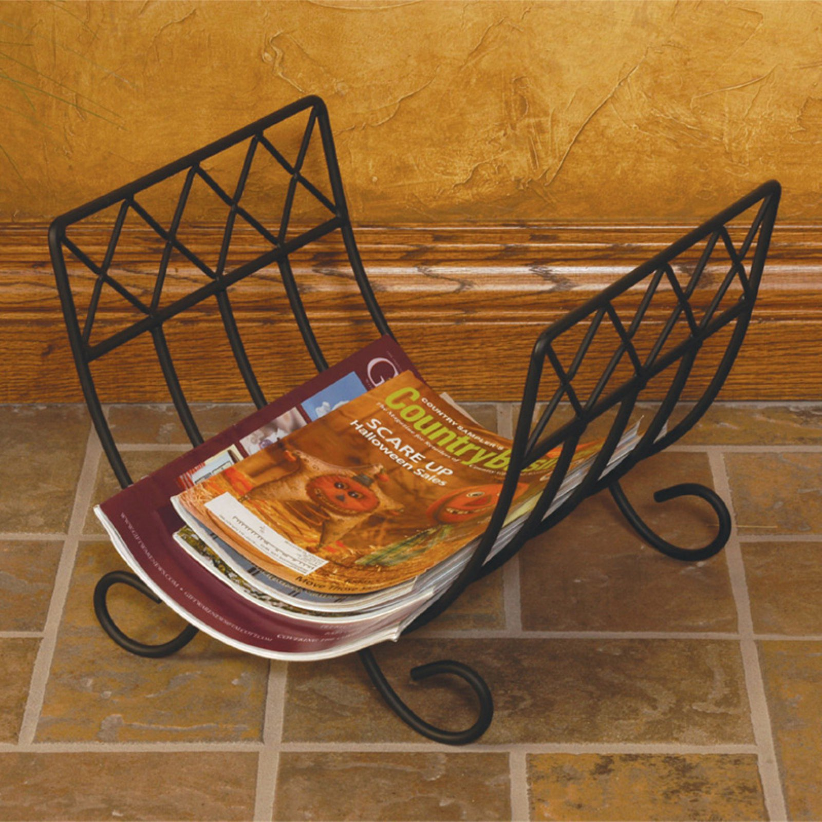 J U0026amp; J Wire Wrought Iron Magazine Rack